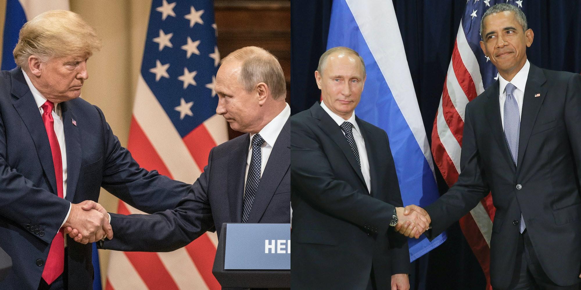 Putins Handshake With Trump Vs Obama Says So Much Body Language