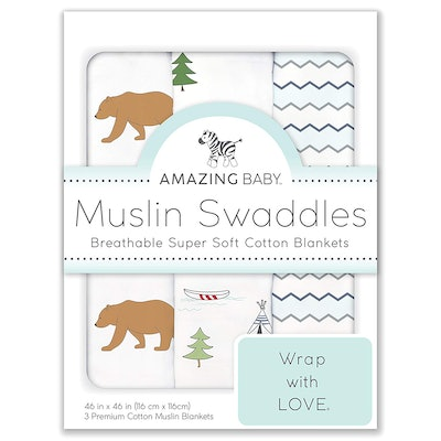 Amazing Baby Cotton Muslin Swaddle Blankets