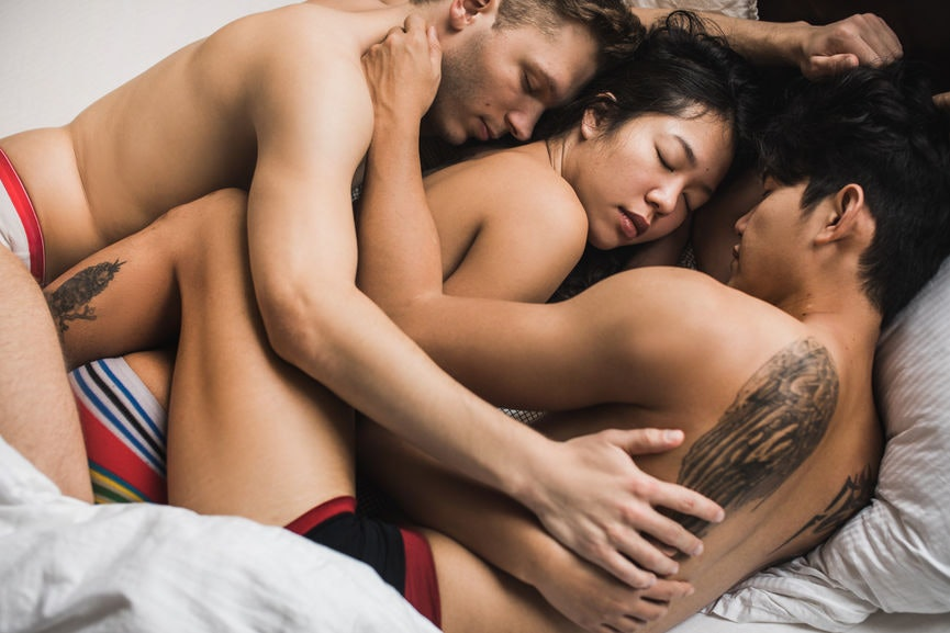 Threesome wife with husband and friend
