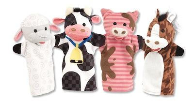 Melissa & Doug Farm Friends Hand Puppets (Set of 4) — 46% Off