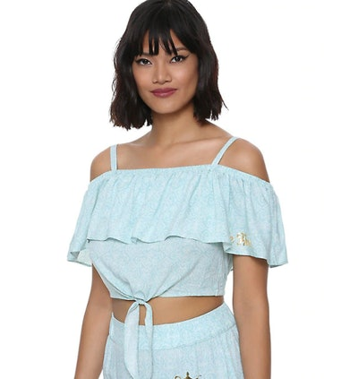 HER UNIVERSE DESTINATION DISNEY ALADDIN PRINCESS JASMINE RUFFLE CROP TOP
