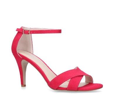 Pink Stiletto Heeled Sandals