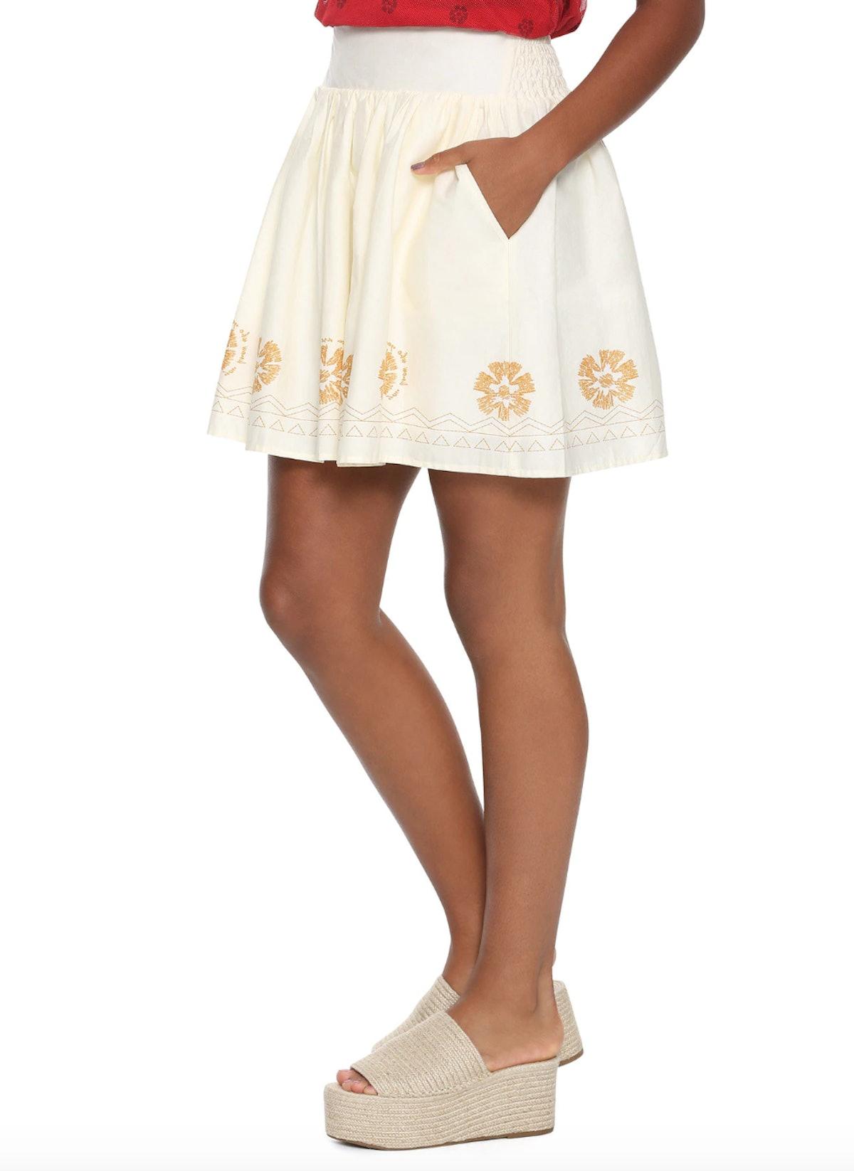 Moana Border Print Skirt