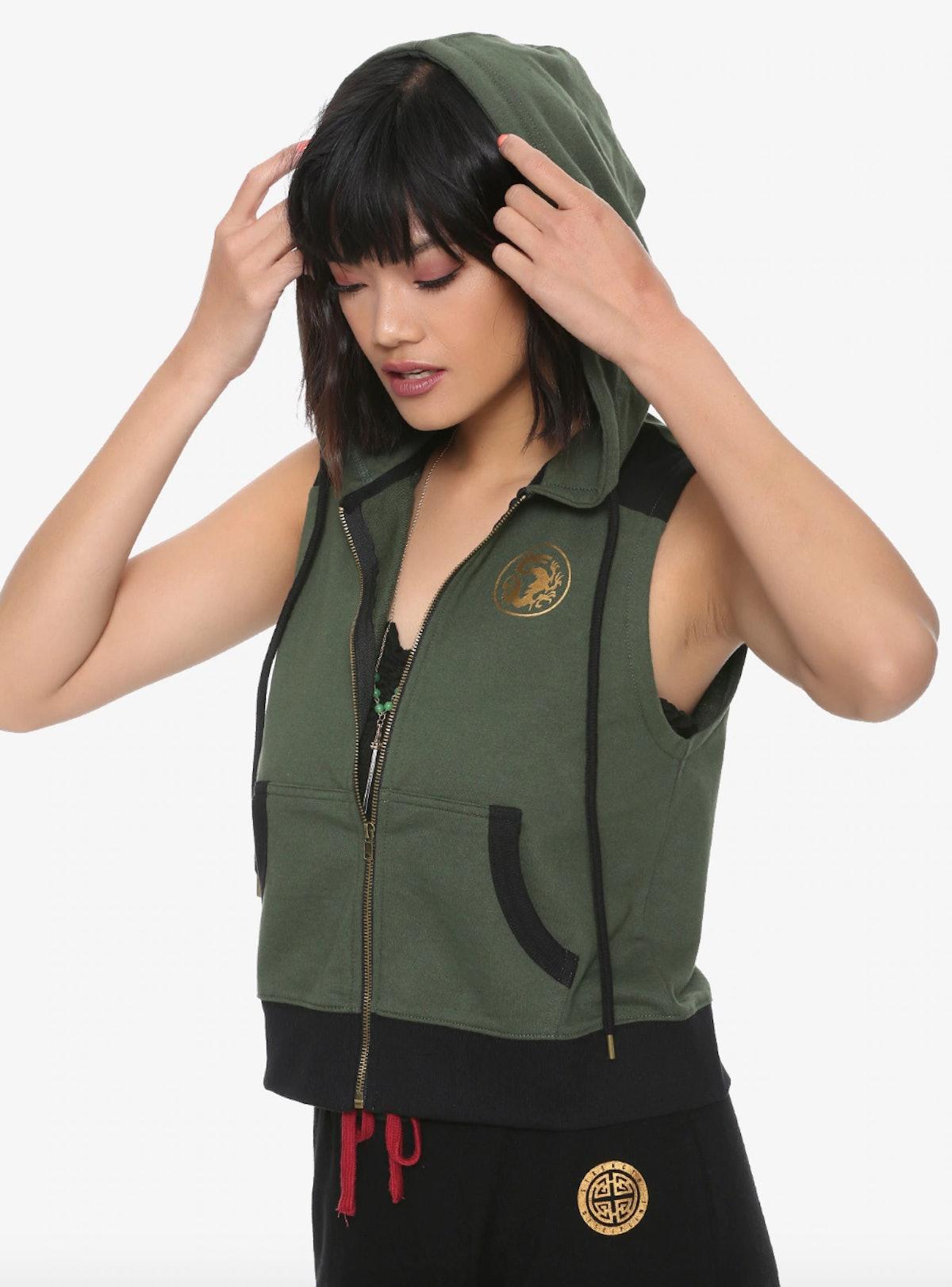 Mulan Green Hoodie Vest