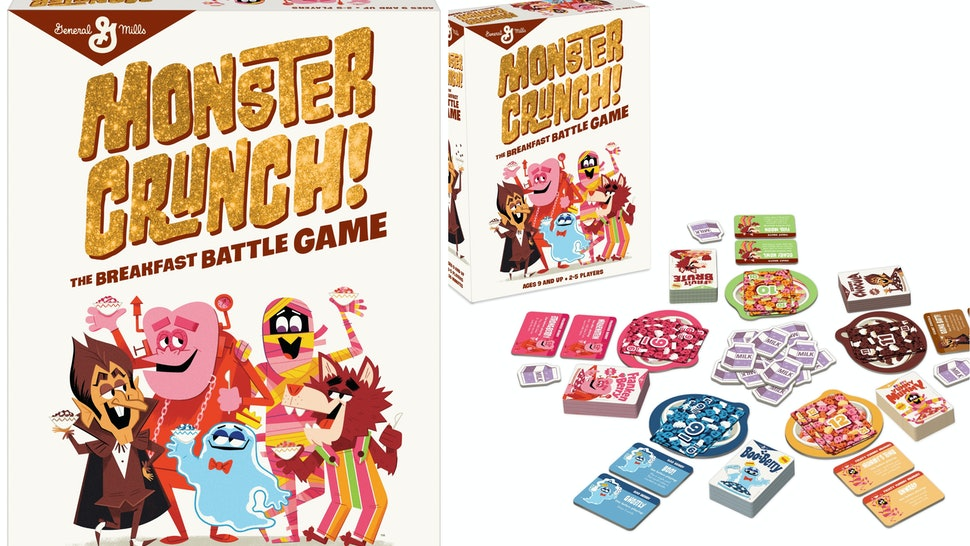 general mills monster crush breakfast card game is on the way