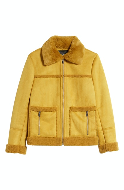 Sam Edelman Faux Shearling Zip Front Jacket