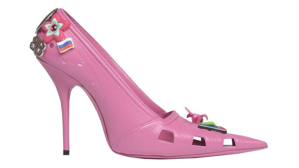 6c1e0e39d6c7d Crocs Stiletto Heels By Balenciaga Actually Look Like Real-Life Barbie Shoes