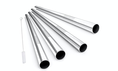 Alink Extra-Wide Stainless Steel Drinking Straws