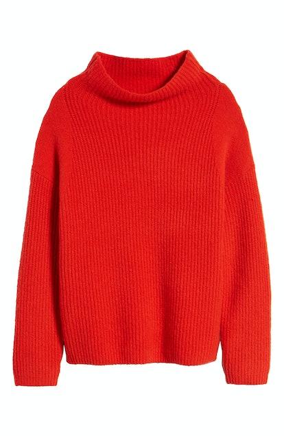 Trouvé Rib Funnel Neck Sweater