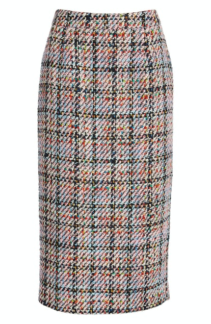 Halogen Tweed Mini Skirt