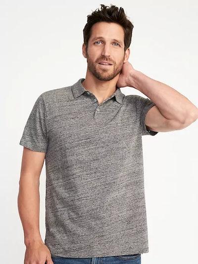 Soft-Washed Slub-Knit Polo