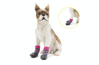 Okdeals Anti-Slip Dog Socks Traction Control