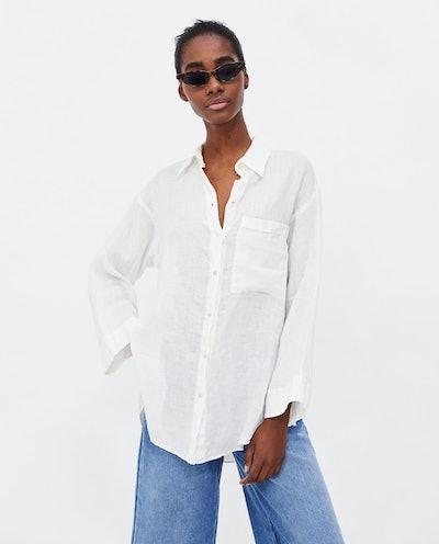 Oversized Linen Blouse