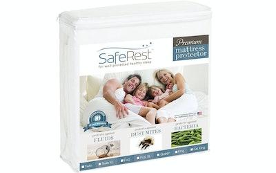 SafeRest Hypoallergenic Waterproof Mattress Topper