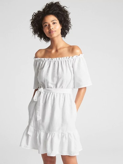 Off-Shoulder Tiered Ruffle Dress