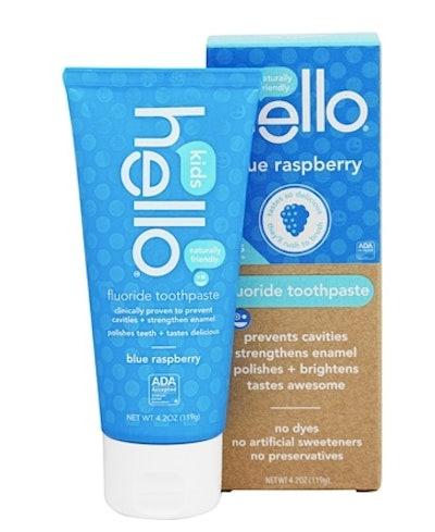 Hello Kids Blue Raspberry Fluoride Toothpaste