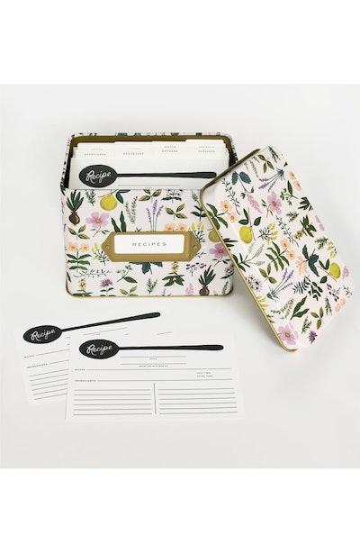 Rifle Paper Co. Herb Garden Recipe Tin