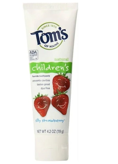 Tom's of Maine Silly Strawberry Anticavity Fluoride Natural Kids Toothpaste