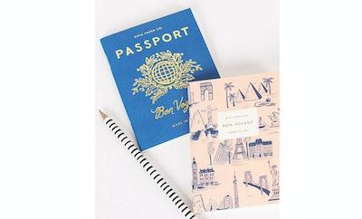 Rifle Paper Passport / Bon Voyage Pocket Size Journal (Set of 2)