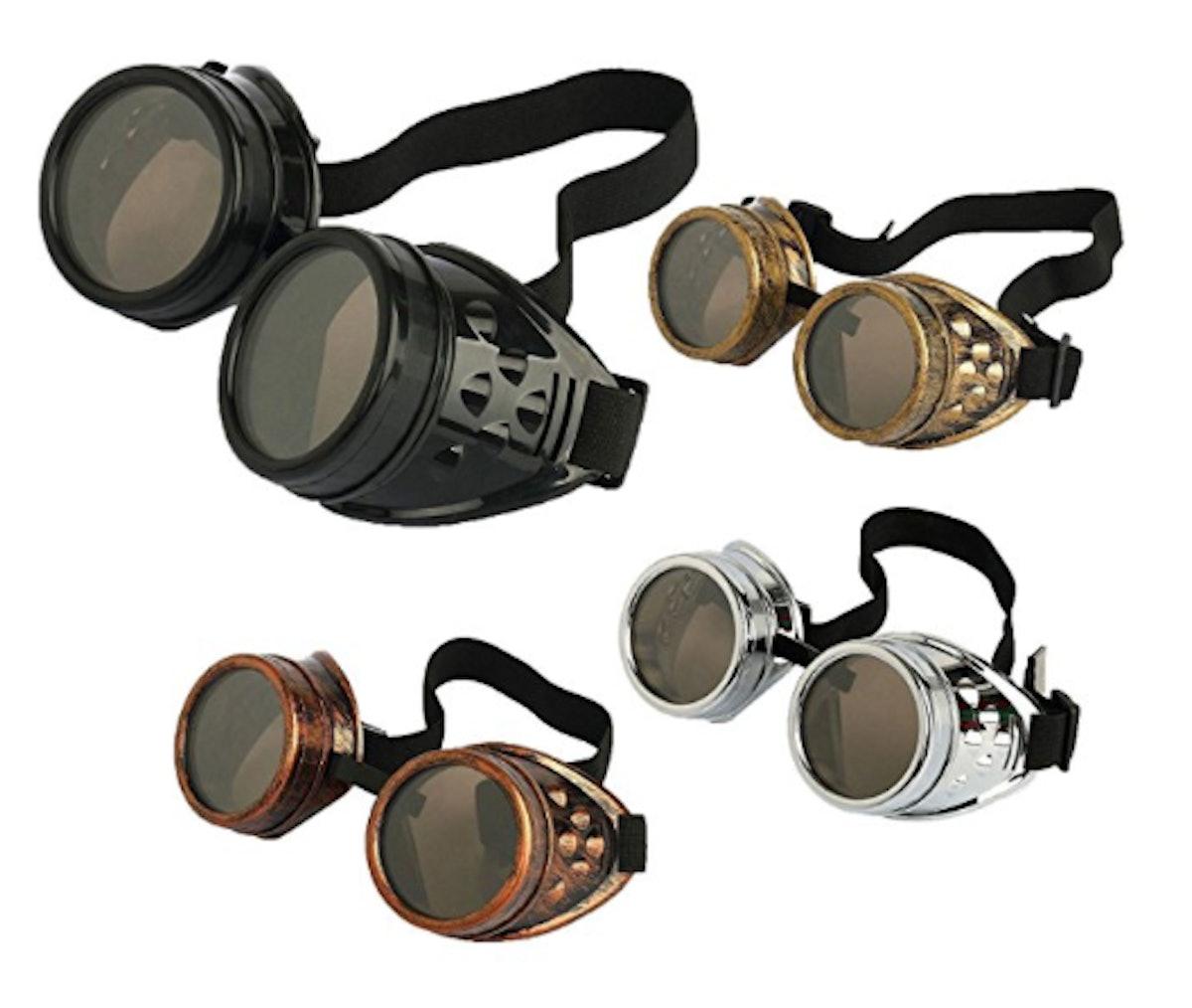 Retro Vintage Victoria Steampunk Goggles