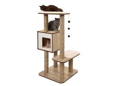 Vesper High Base Oak Cat Furniture