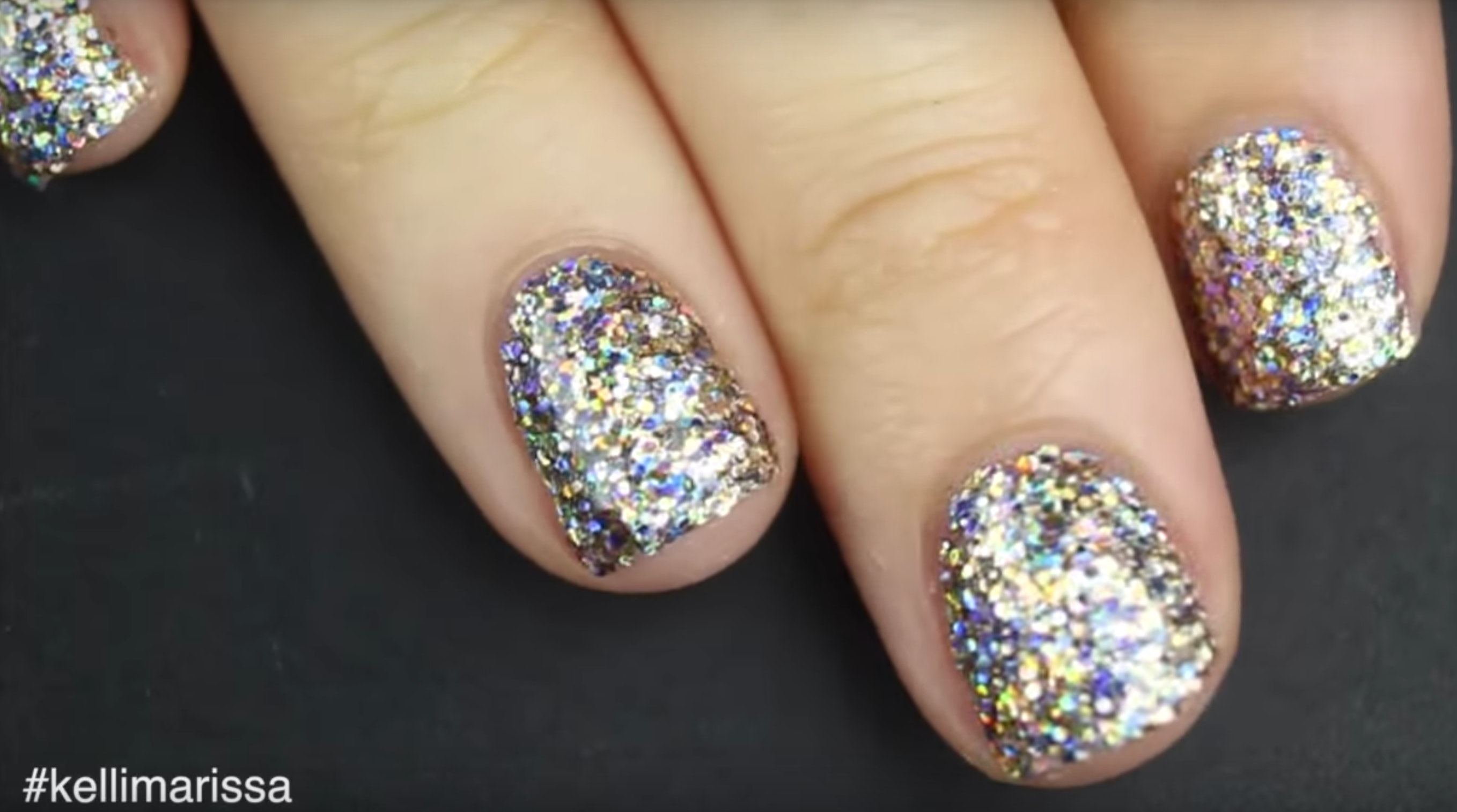This Glitter Nail Polish Hack Will Give You Solidly Sparkly Nails In No Time