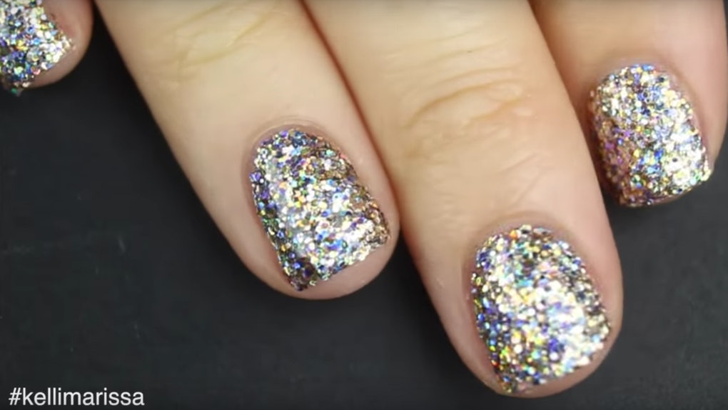 This Glitter Nail Polish Hack Will Give You Solidly Sparkly Nails In