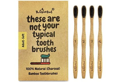 The Green Root Charcoal Infused Toothbrushes