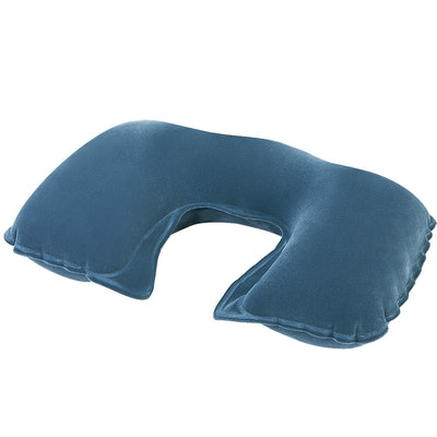 """Pool Central 18"""" Gray Inflatable Travel Comfort Air Neck Pillow"""
