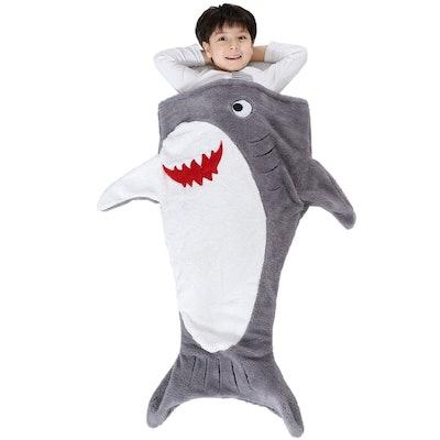 Plush Shark Sleeping Bag Blanket
