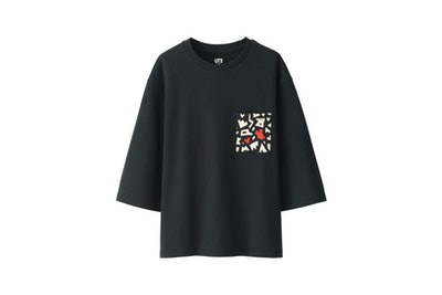 Women Love & Mickey Mouse Collection Graphic T-shirt (Black)