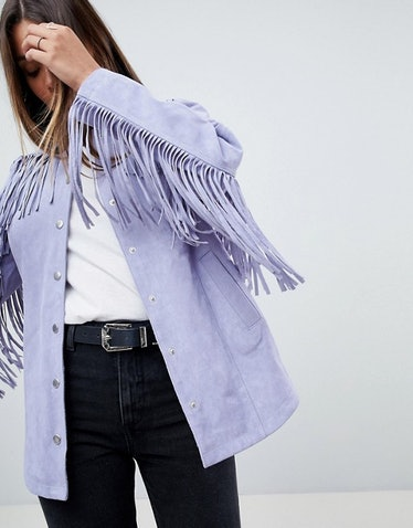 ASOS Fringe Suede Jacket