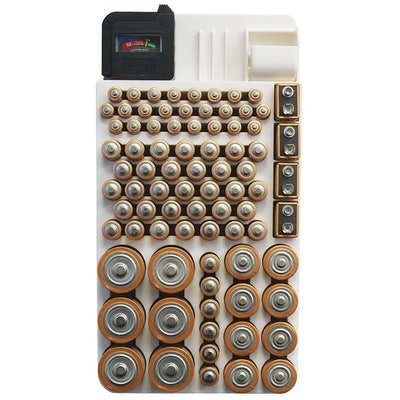 Range Kleen Battery Organizer Storage Case by Holds 82 Batteries Various Sizes WKT4162 Removable Battery Tester