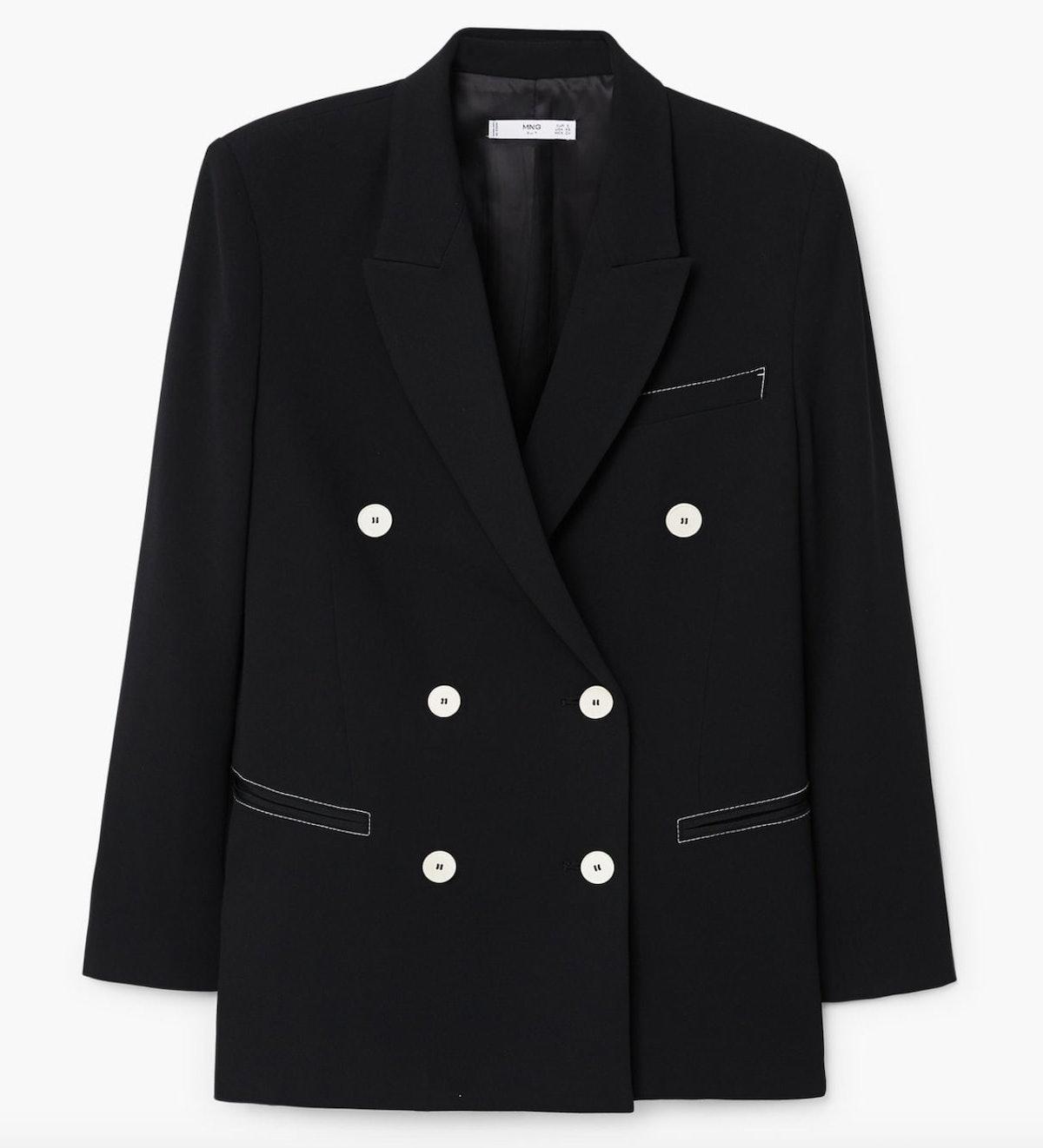 Contrast seam blazer