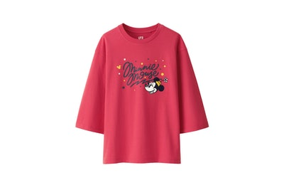 Women Love & Mickey Mouse Collection Graphic T-shirt