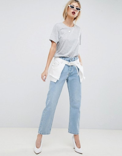 Florence Authentic Straight Leg Jeans With Deconstructed Overlay