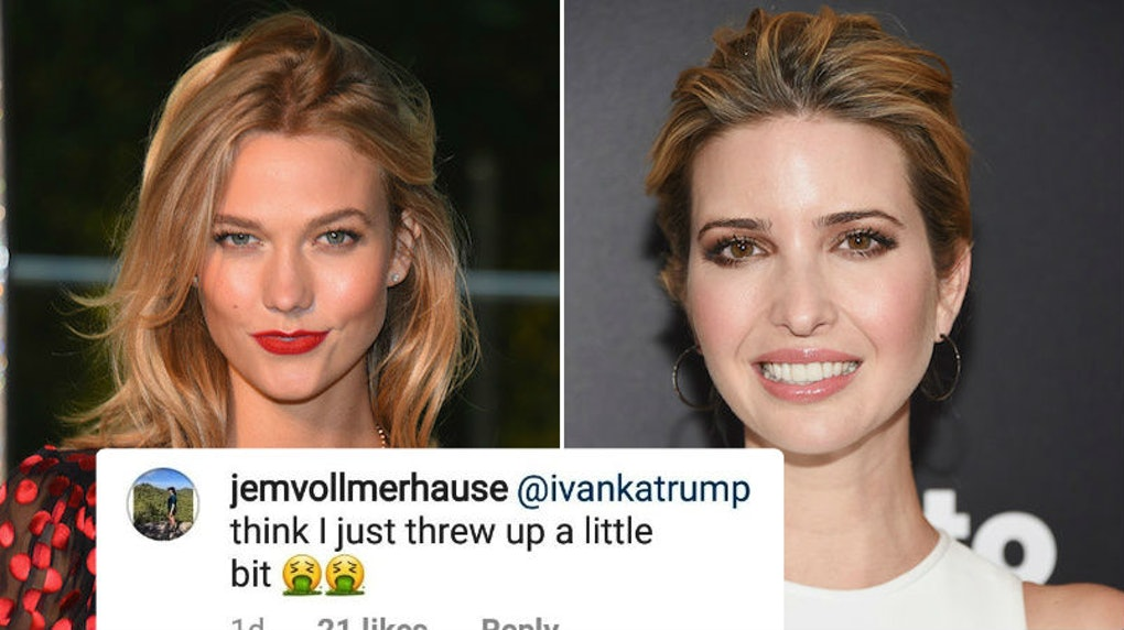 Are Karlie Kloss Ivanka Trump Friends Ivankas Comment On Her Engagement Post Has Fans Pissed