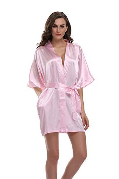 Sunnyhu Women's Kimono Silk Robe