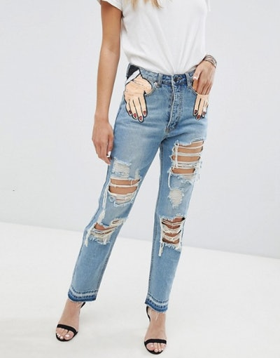 Signature 8 Festival Hand In Pocket Jeans With Rips