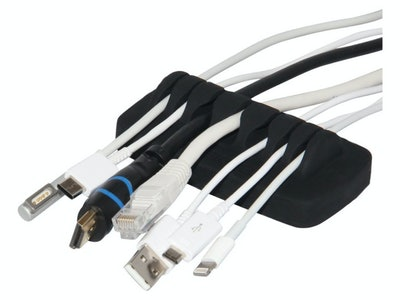 Compact Weighted Cable Organizer