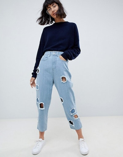 Ovoid Circle Cut Out Jean