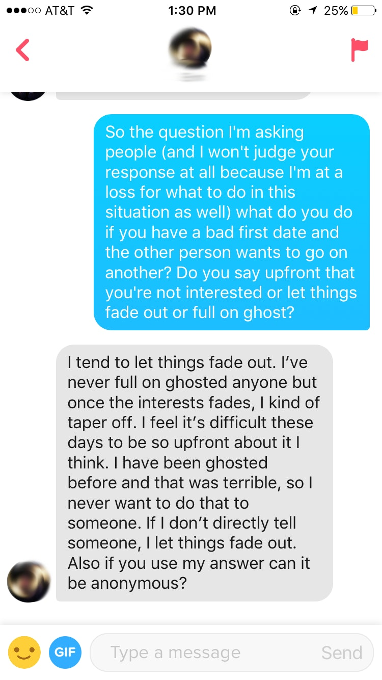 Is It OK To Ghost After A Bad First Date? I Asked My Tinder Matches