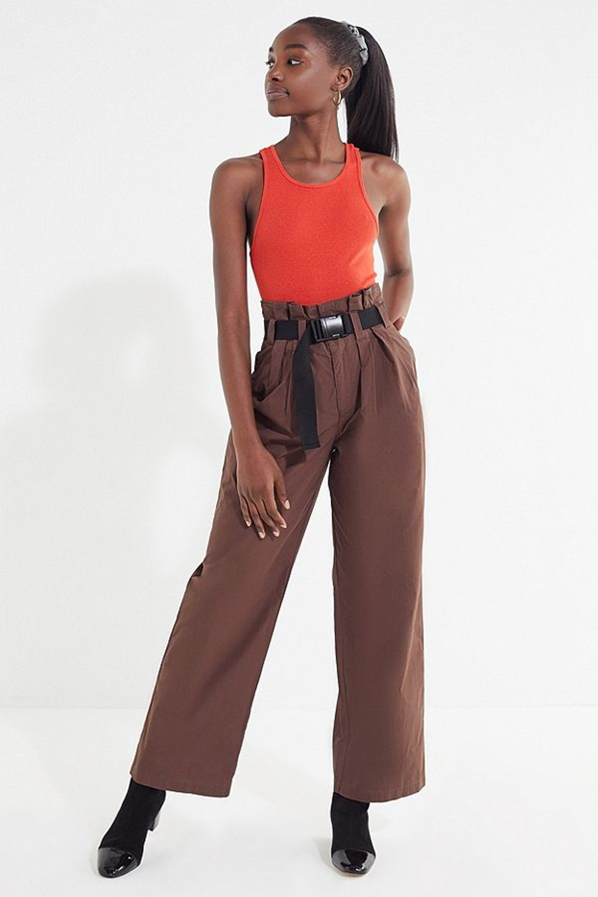 UO Sienna Belted Paperbag Pant