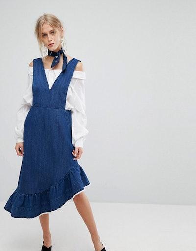 Current Air Denim Midi Dress