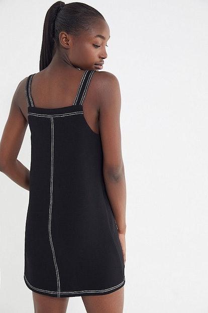 UO Contrast Stitch Mini Dress