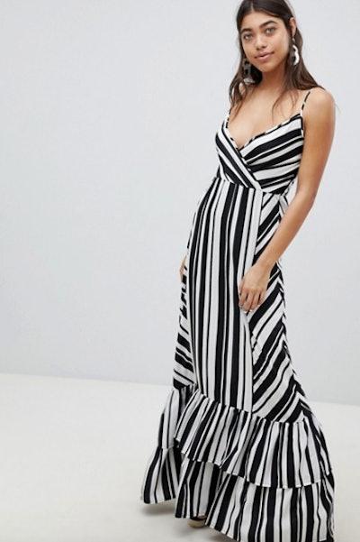 Boohoo Mixed Stripe Maxi Dress