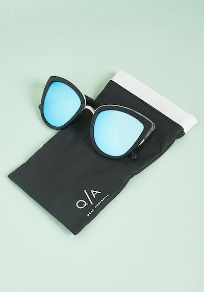 Quay My Girl Sunglasses in Blue Lens
