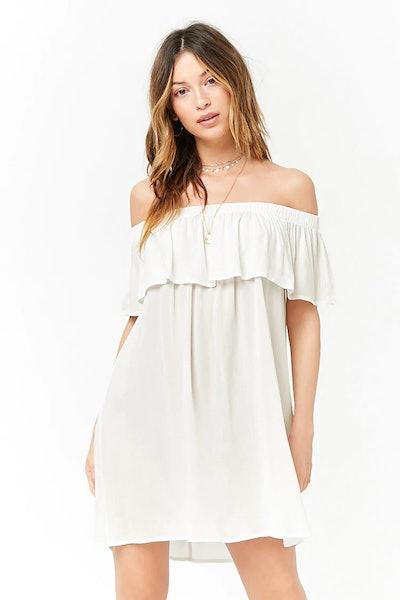 Flounce Off-The-Shoulder Dress
