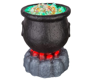 Halloween Lit Cauldron Candy Bowl