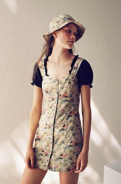 Laura Ashley & UO Button-Front Mini Dress